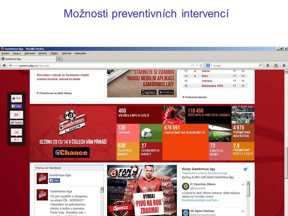 Možnosti preventivních intervencí