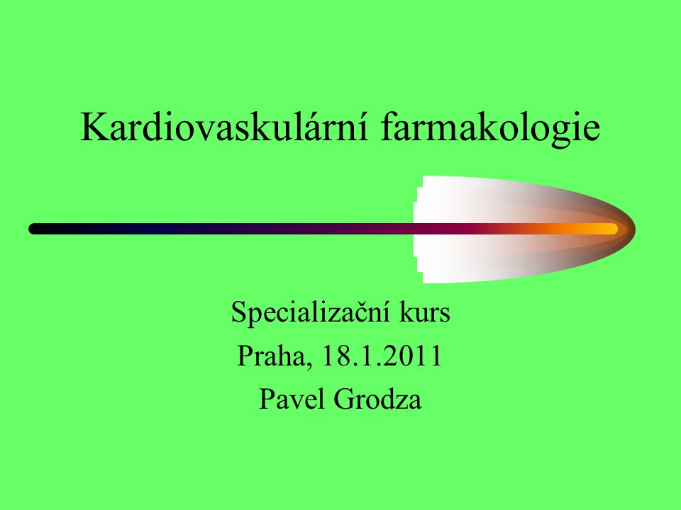 Studie SHIFT(Systolic Heart failure treatment with the If inhibitor ivabradine Trial Stockholm 2010- evropský kardiologický kongres