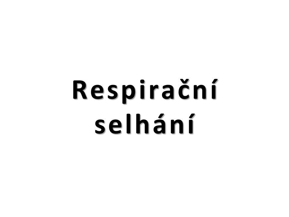 Respirační selhání