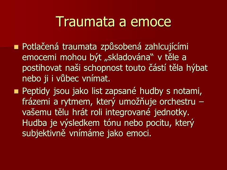 """Traumata a emoce Potlačená traumata způsobená zahlcujícími emocemi mohou být """"skladována"""" v těle a postihovat naši schopnost touto částí těla hýbat ne"""