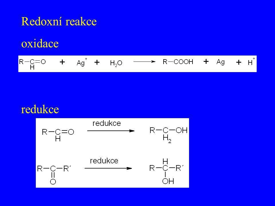 Redoxní reakce oxidace redukce