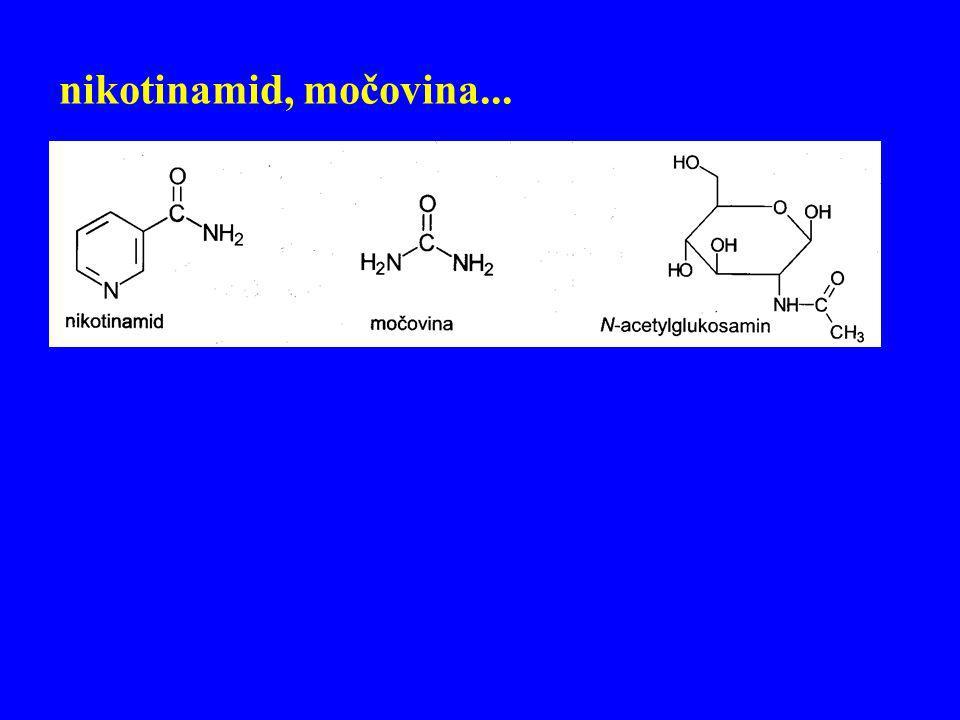 nikotinamid, močovina...