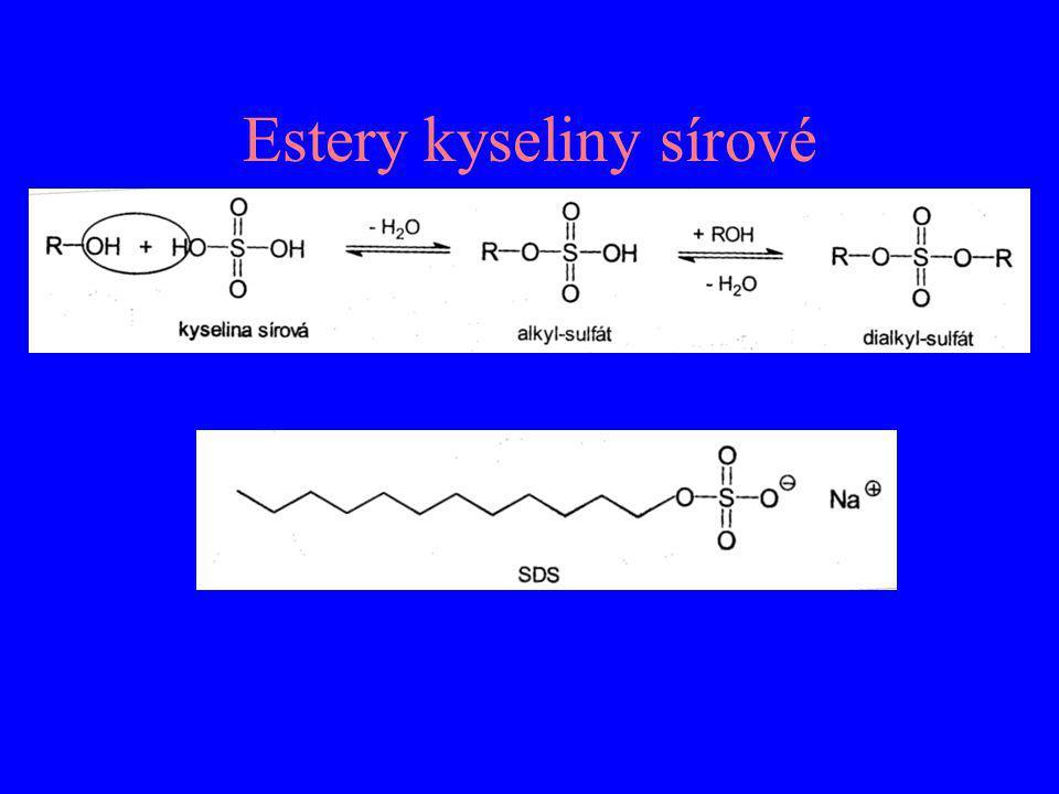 Lipoová kyselina (1,2-dithiolan-3-pentanová kyselina) – jako amid je kofaktorem enzymových komplexů katalyzující oxidační dekarboxylaci α-oxokyselin Dimerkaptol (2,3-disulfanylpropanol) – antidotum při intoxikaci těžkými kovy