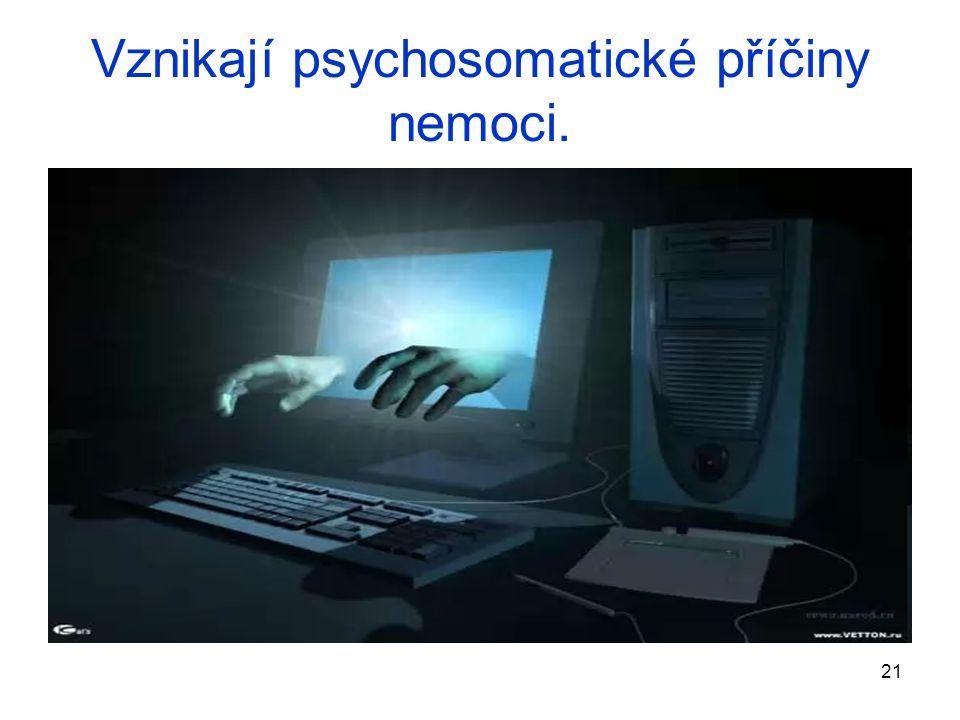 21 Vznikají psychosomatické příčiny nemoci.