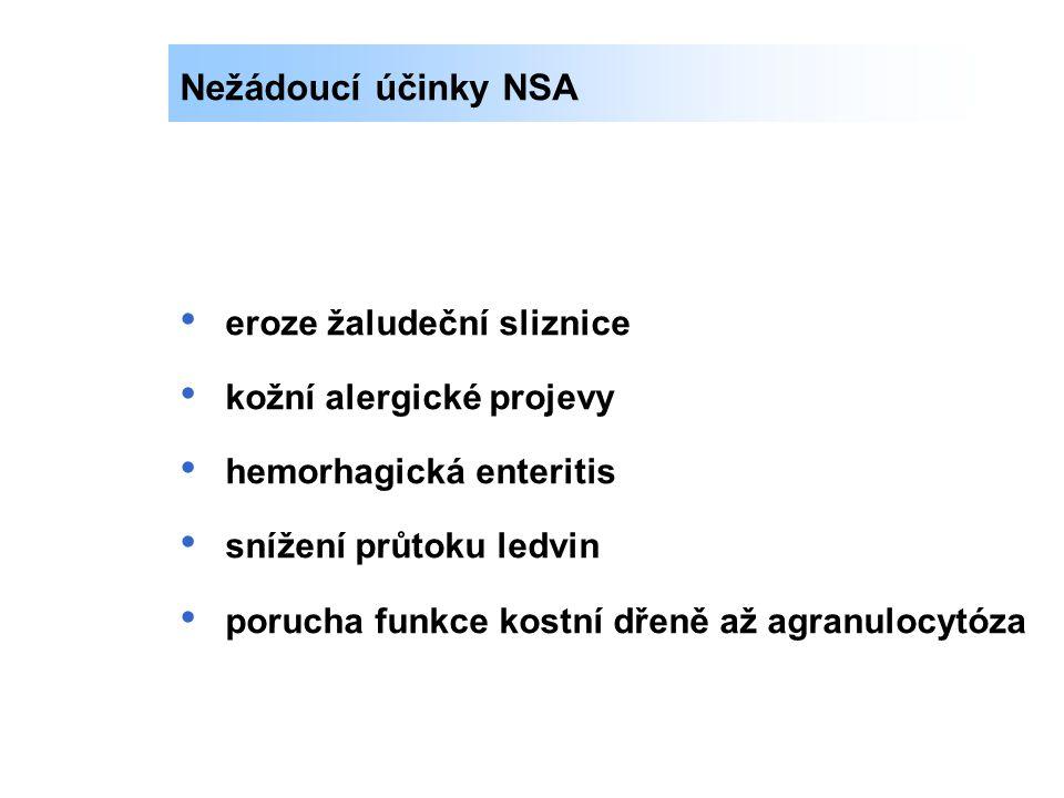 Pyrazolidiny – kebuzon, clofezon, azapropazon Fenamáty – kyselina tolfenamová Der.