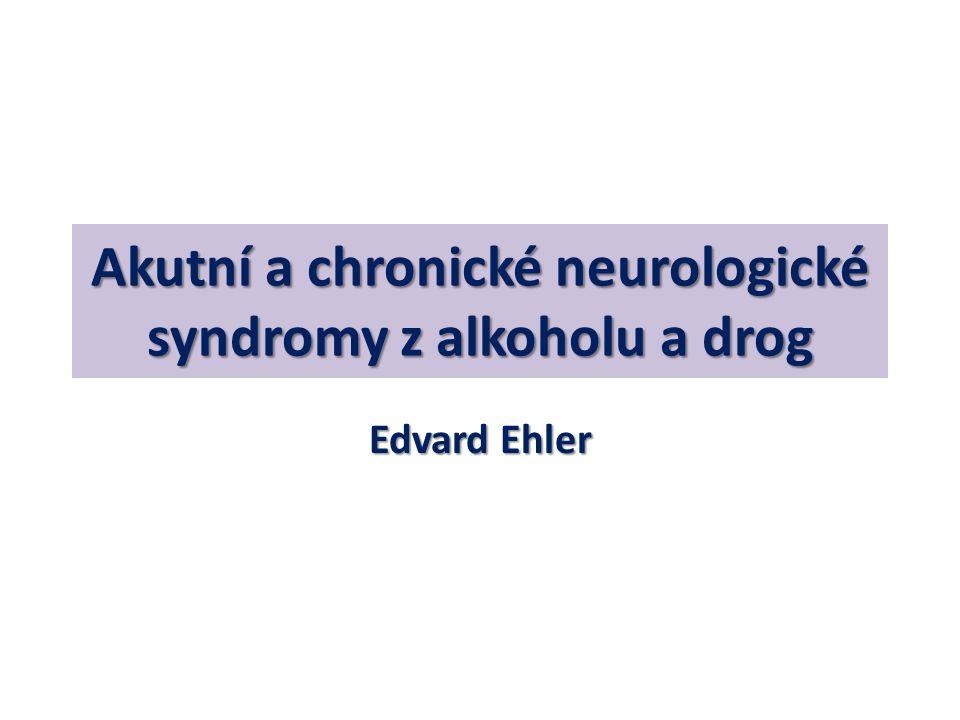 Alkoholová mozečková degenerace Muž, alkoholik, střední věk  Atrofie v oblasti vermis (CT,MR)  Histologicky – ztráta neuronů (Purkyně)  Progredující paleocerebelární syndrom (stoj, chůze) a neocerebelární na HK (málo) Poruchy řeči, okohybné poruchy (+-)  Th: Thiamin,možná úprava