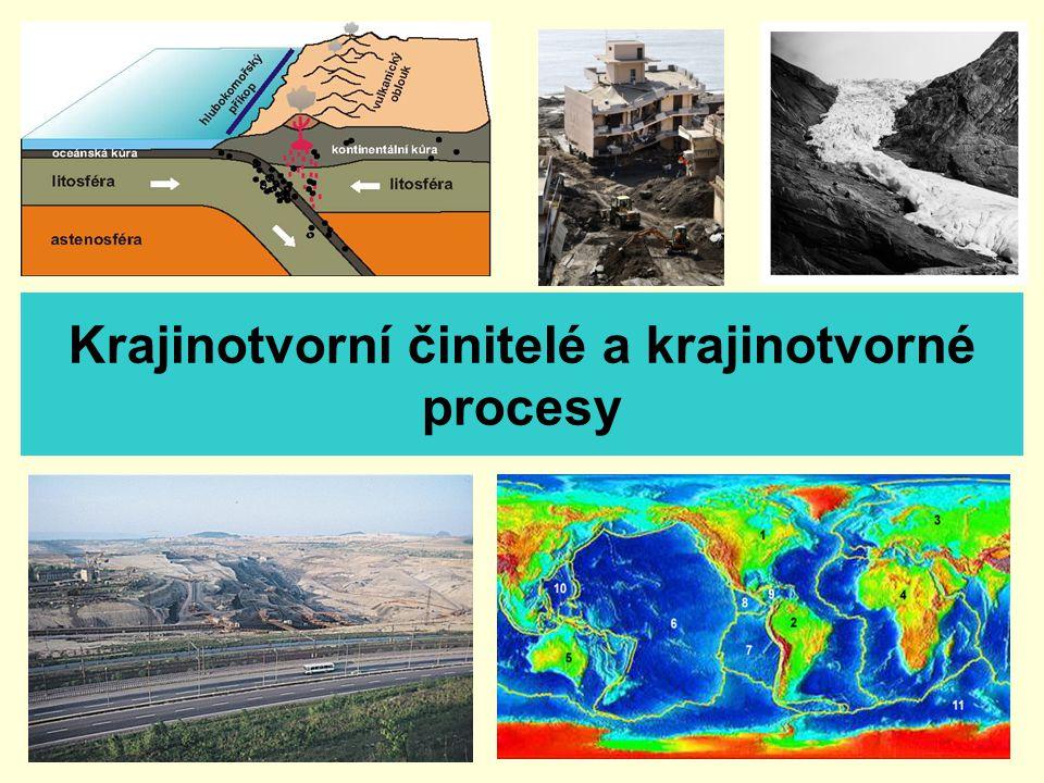 Krajinotvorní činitelé a krajinotvorné procesy
