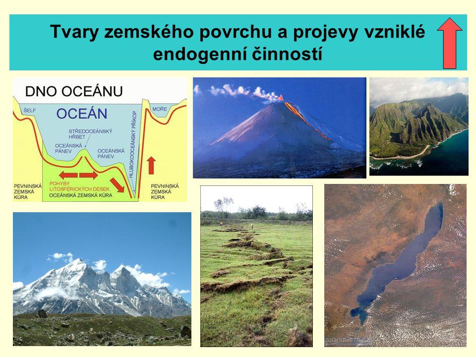 Tvary zemského povrchu a projevy vzniklé endogenní činností