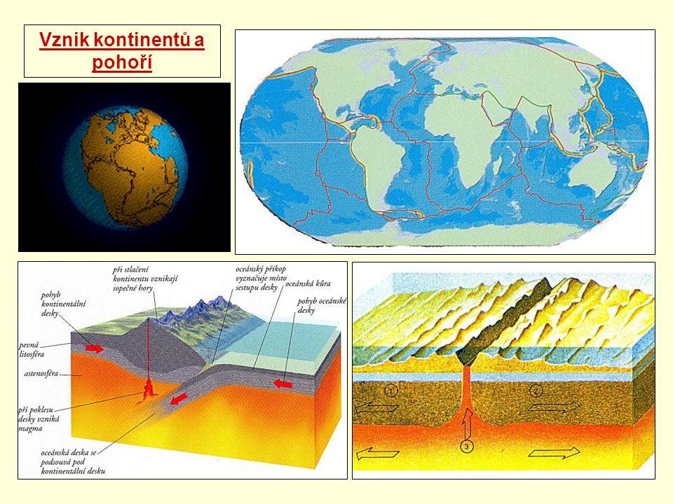 Vznik kontinentů a pohoří