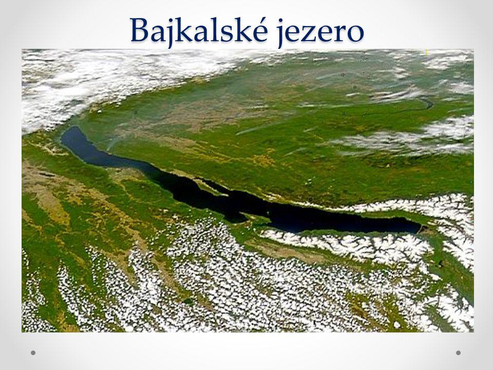 Bajkalské jezero Nejhlubší skrytá proláklina Nejhlubší skrytá proláklina Průměrná nadmořská výška hladiny jezera je 456 m Průměrná nadmořská výška hla