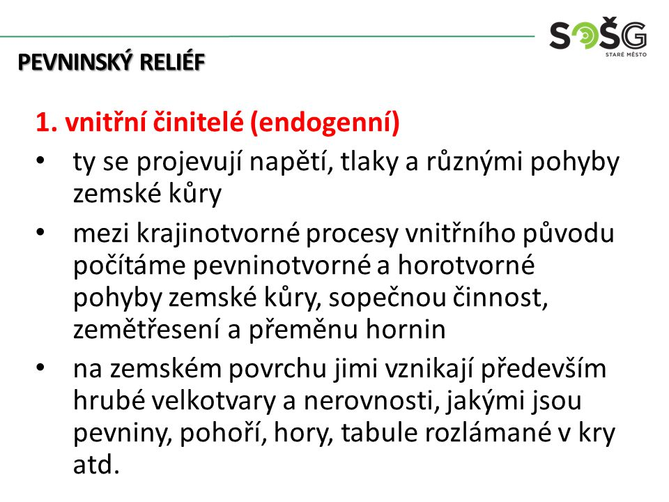 PEVNINSKÝ RELIÉF 2.