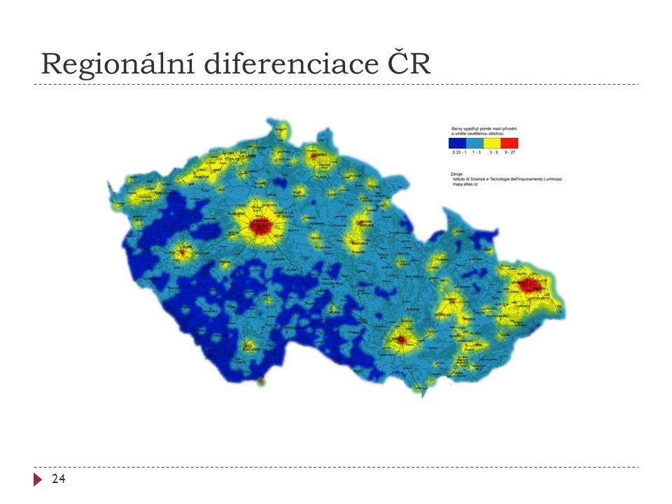 Regionální diferenciace ČR 24