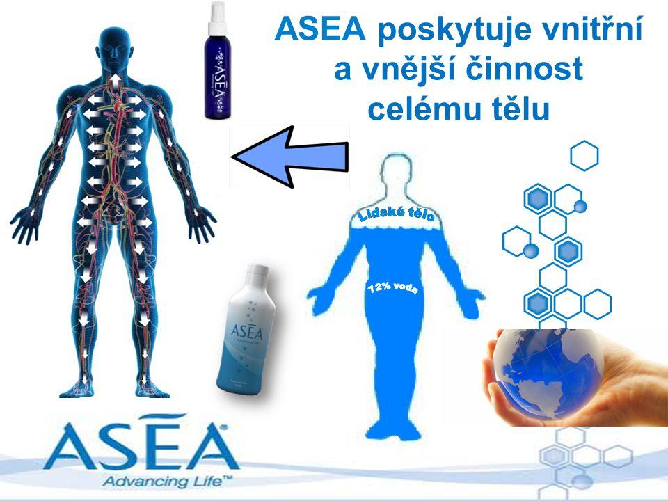 ASEA poskytuje vnitřní a vnější činnost celému tělu