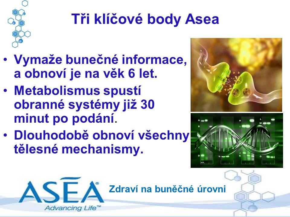 Vymaže bunečné informace, a obnoví je na věk 6 let. Metabolismus spustí obranné systémy již 30 minut po podání. Dlouhodobě obnoví všechny tělesné mech