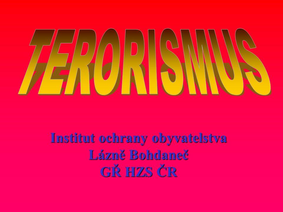 Původ slova teror – terorizmus je v angličtině : Terror = česky teror je hrůza, děs, strach, zděšení, je hrůza, děs, strach, zděšení, útisk, úzkost, ale také dítě.