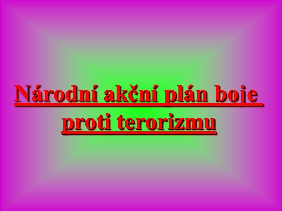 Národní akční plán boje Národní akční plán boje proti terorizmu proti terorizmu Národní akční plán boje Národní akční plán boje proti terorizmu proti