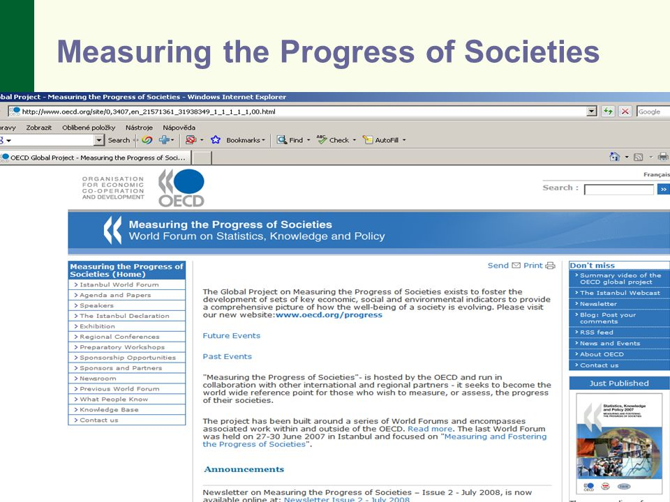 Measuring the Progress of Societies