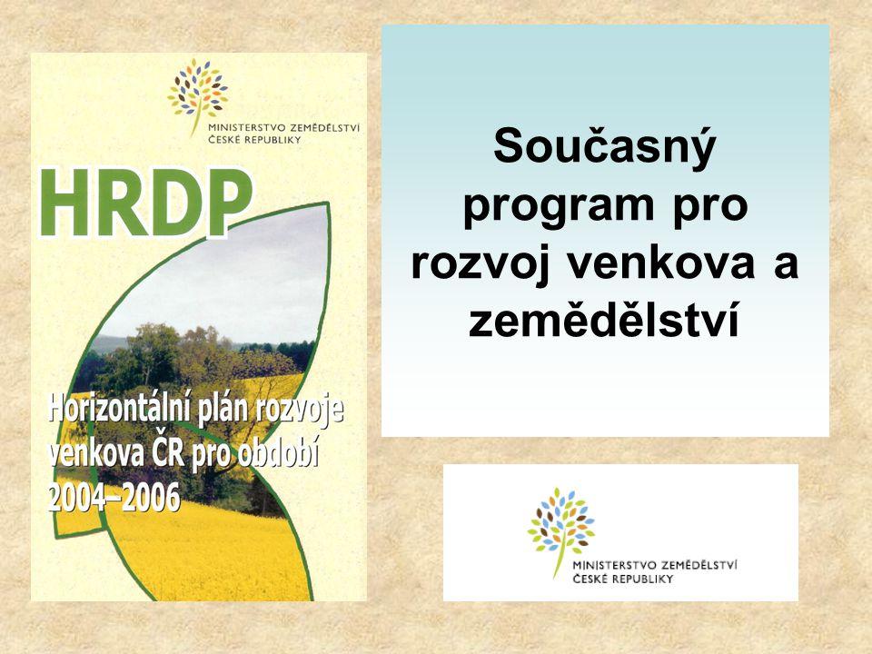 Současný program pro rozvoj venkova a zemědělství