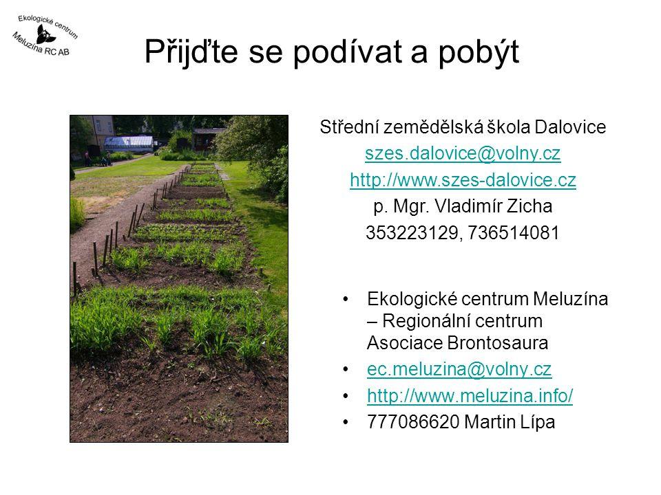 Přijďte se podívat a pobýt Ekologické centrum Meluzína – Regionální centrum Asociace Brontosaura ec.meluzina@volny.cz http://www.meluzina.info/ 777086