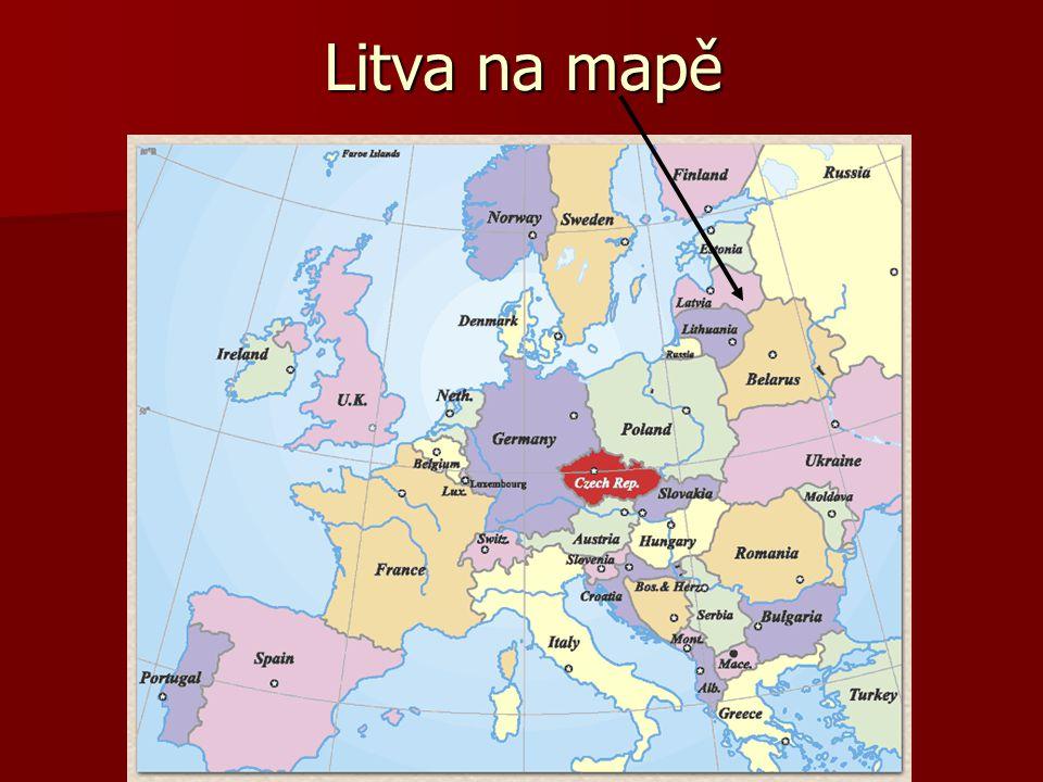 Litva na mapě