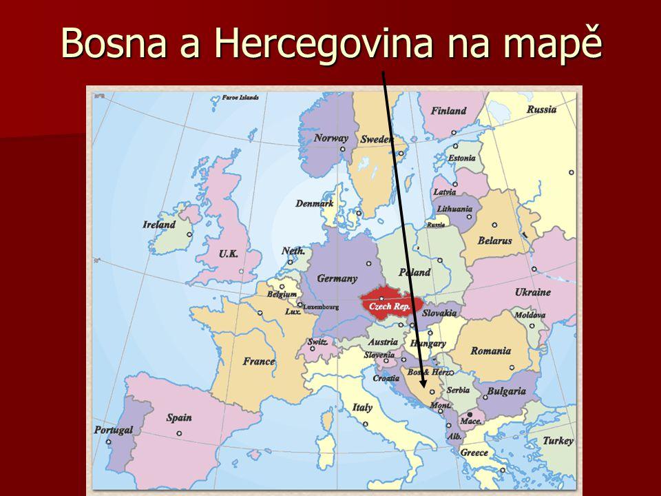 Bosna a Hercegovina na mapě