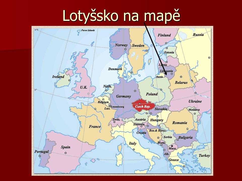 Lotyšsko na mapě