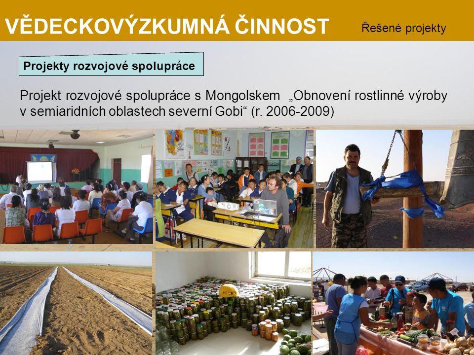 """Projekt rozvojové spolupráce s Mongolskem """"Obnovení rostlinné výroby v semiaridních oblastech severní Gobi"""" (r. 2006-2009) VĚDECKOVÝZKUMNÁ ČINNOST Řeš"""
