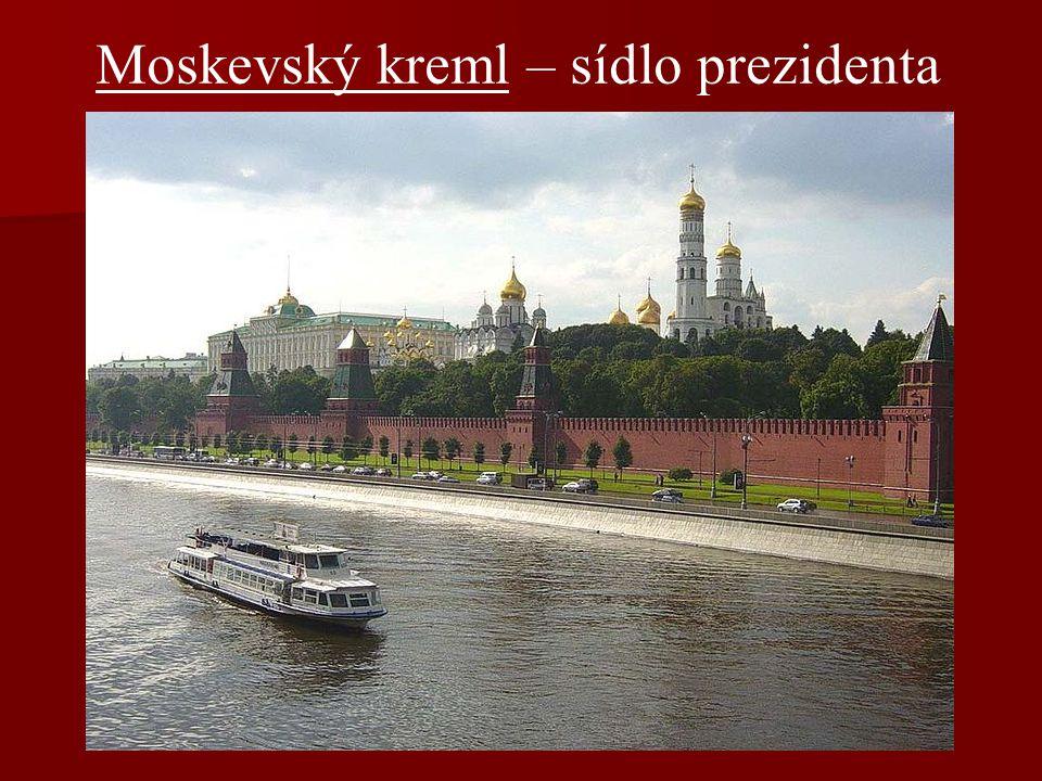 Moskevský kreml – sídlo prezidenta