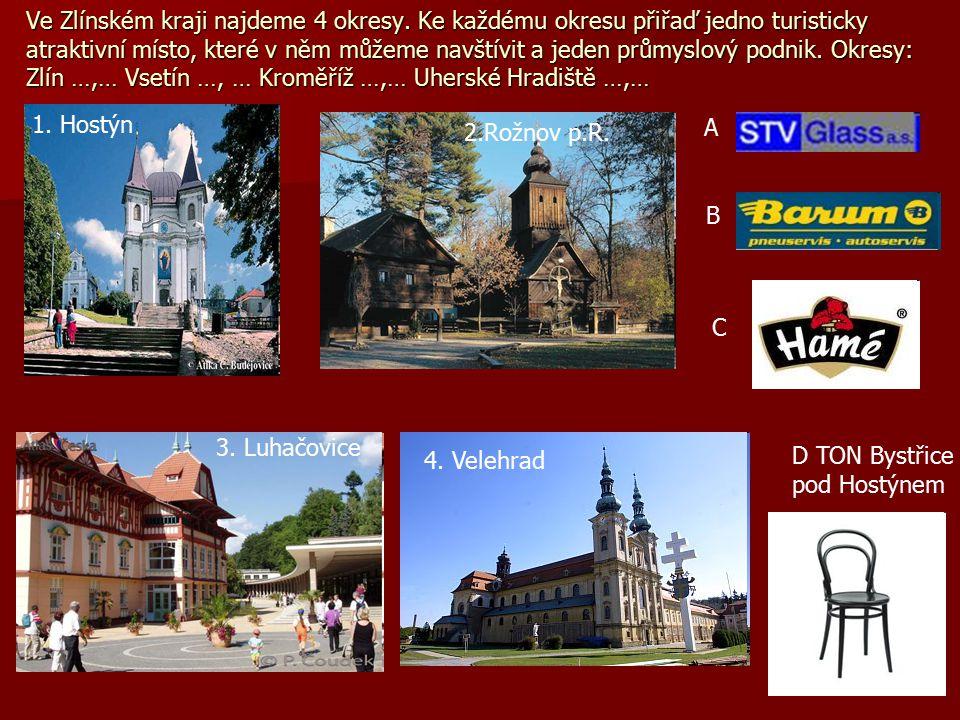 Ve Zlínském kraji najdeme 4 okresy.