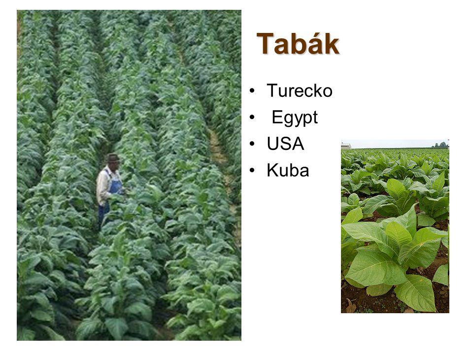 Tabák Turecko Egypt USA Kuba