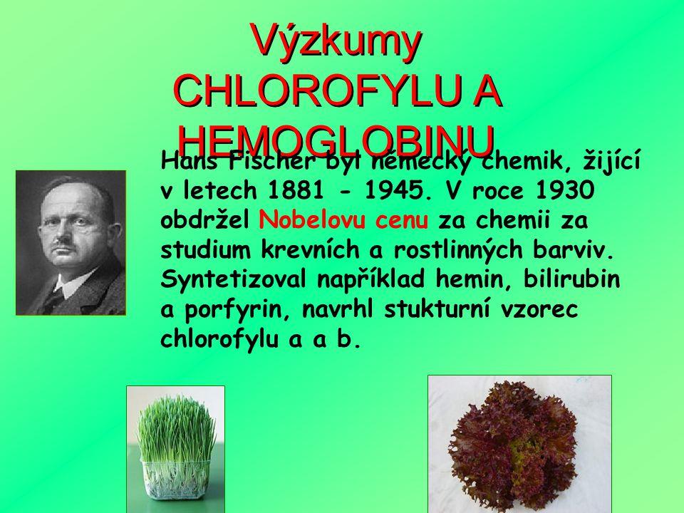 CHLOROFYL v naší stravě Chlorofyl je pigment absorbující světelné záření v každé zelené rostlinně. Nachází se na membránách chloroplastů. Chlorofyl je