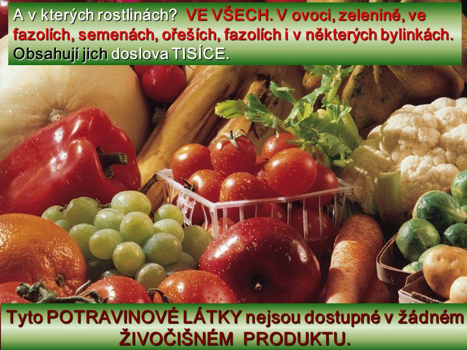 Papej svou zeleninku… Dnes se zjistilo, že jsou plné sloučenin, nazvaných Fytolátky, Barviva, Enzymy a Antioxidanty. Staly se nadějí mnoha vědců, prot