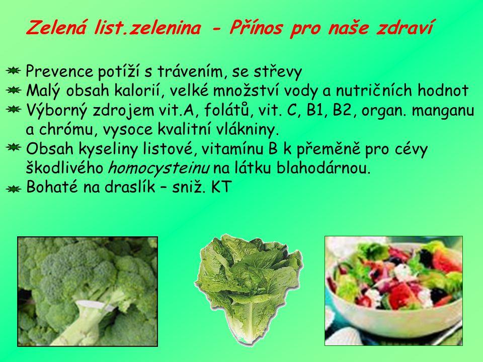 Listová zelenina je velmi zdravá. Lékaři navíc zeleným lupenům přičítají léčivou moc, neboť látky v nich obsažené dokáží omezit riziko rakoviny, demen