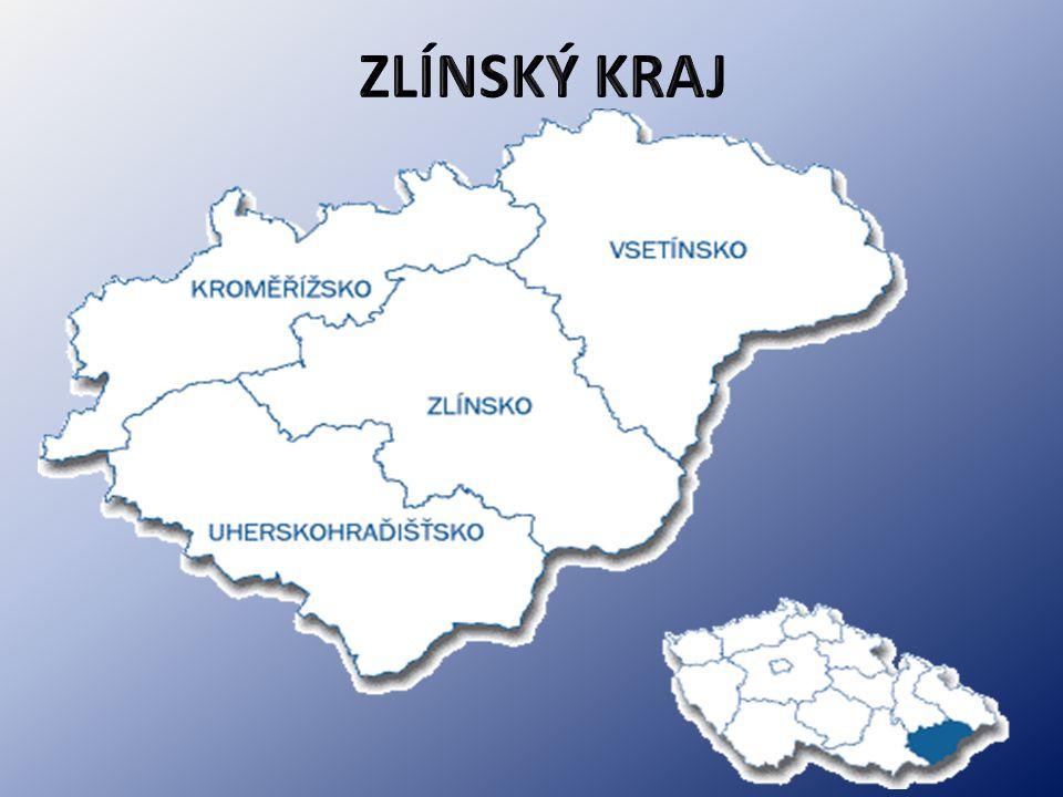 ZLÍNSKÝ KRAJ KRAJSKÉ MĚSTO: Zlín ROZLOHA: 3 964 km² OKRESPOČET OBYVATEL ROZLOHAHUSTOTA ZALIDNĚ.