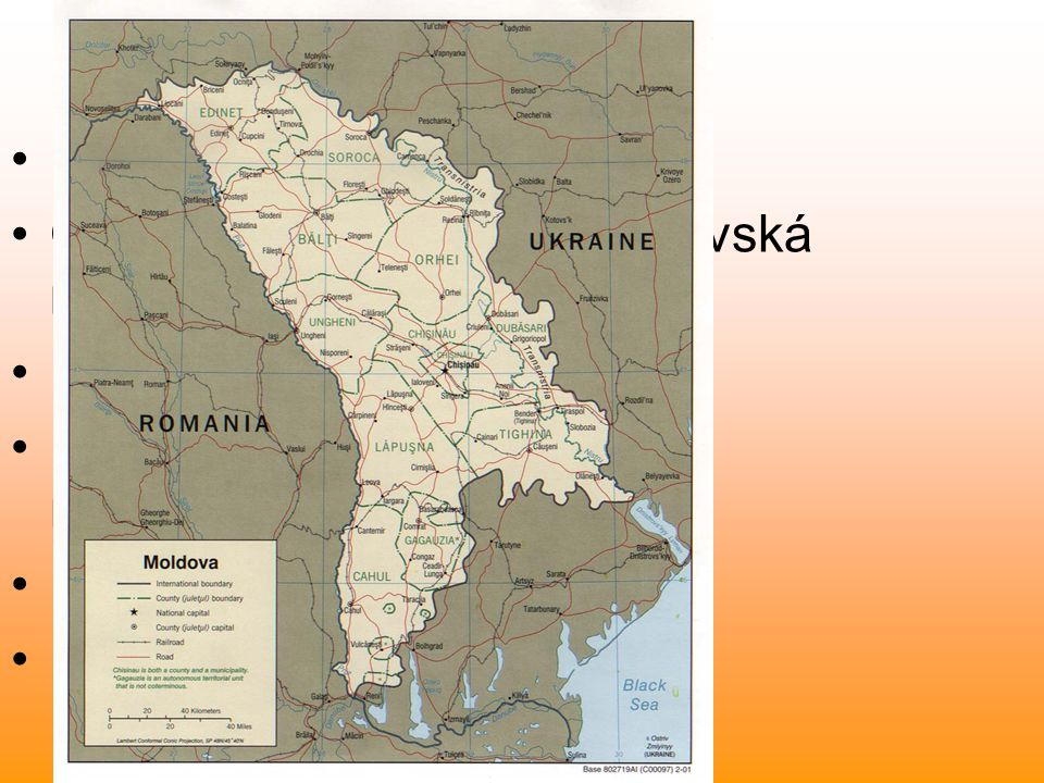 Historický vývoj území ve starověku území součástí římské provincie Dacia později pod vlivem Germánů, Slovanů, Valachů, Kyjevské Rusi historická země Besarábie dnešní Moldavsko zaujímá téměř dvě třetiny Besarábie název Moldavsko se používá od roku 1940