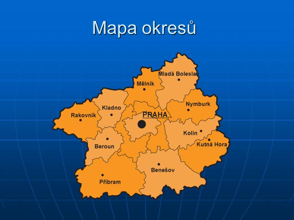 Mapa okresů