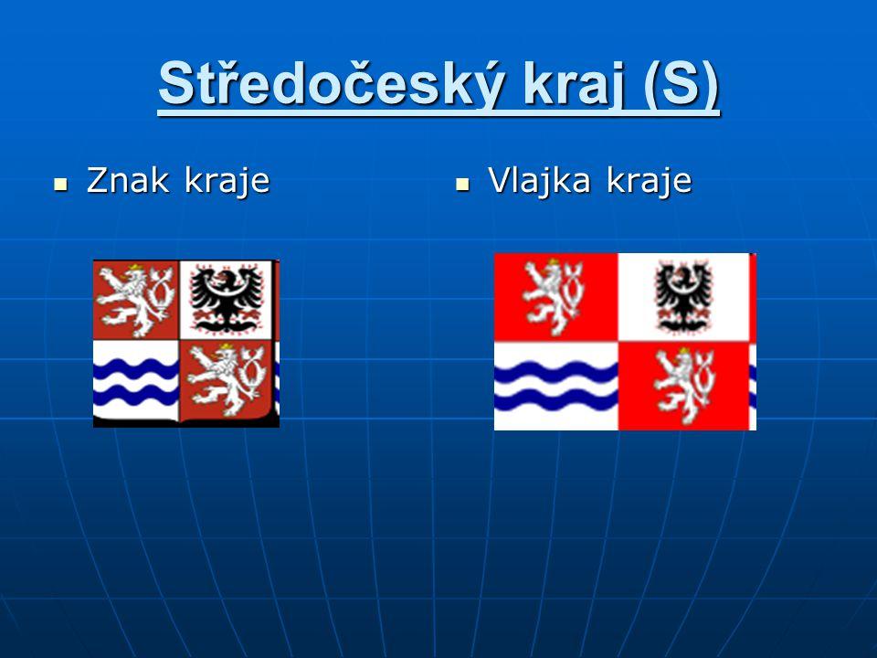 Středočeský kraj (S) Vlajka kraje Vlajka kraje Znak kraje Znak kraje