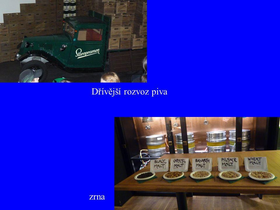 Dřívější rozvoz piva zrna