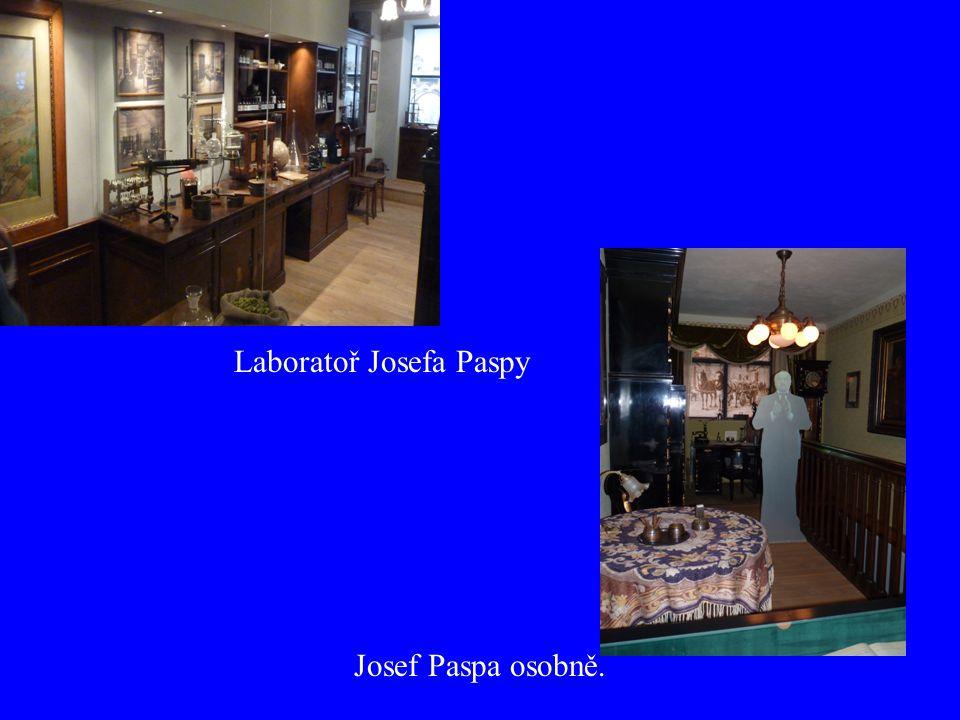 Laboratoř Josefa Paspy Josef Paspa osobně.