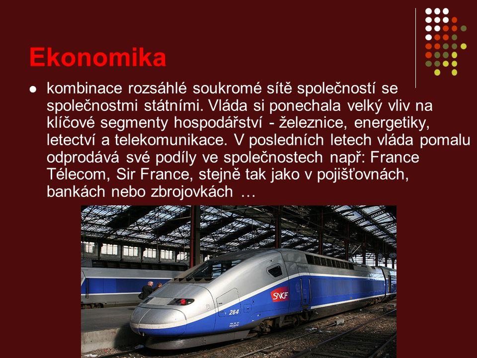 Ekonomika kombinace rozsáhlé soukromé sítě společností se společnostmi státními.