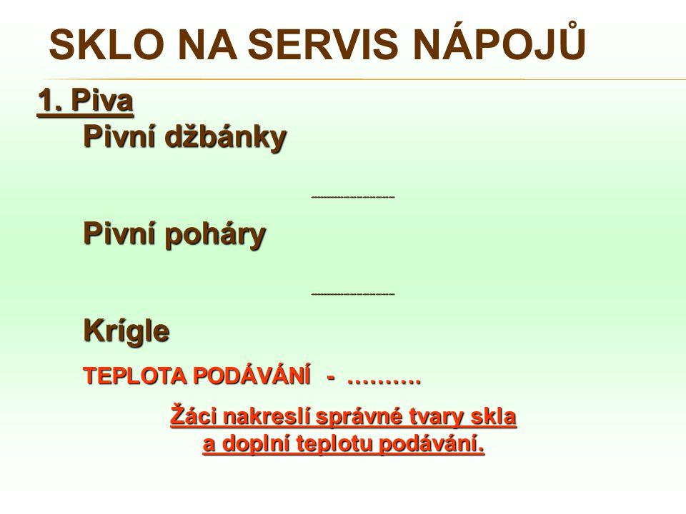 SKLO NA SERVIS NÁPOJŮ 2.