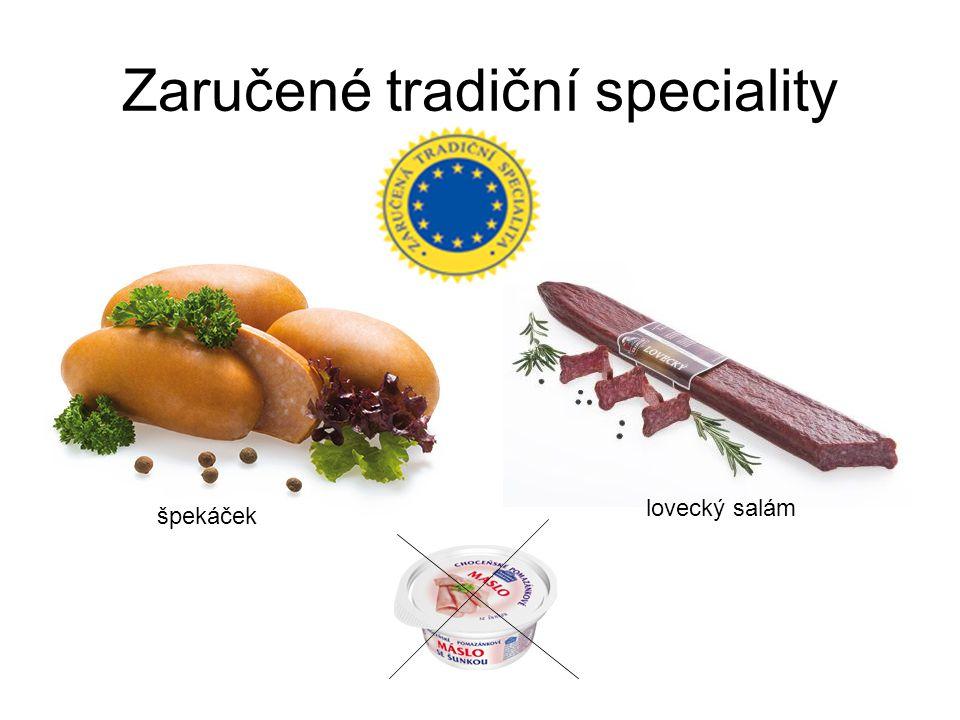 Zaručené tradiční speciality špekáček lovecký salám