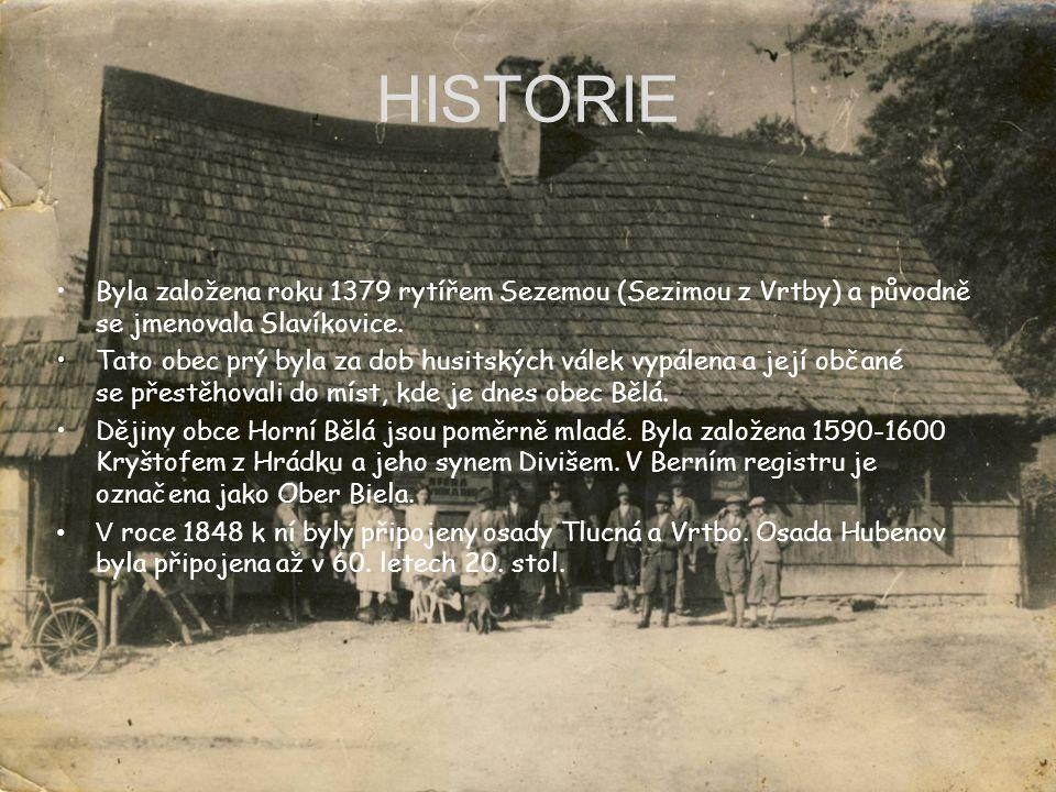 HISTORIE Byla založena roku 1379 rytířem Sezemou (Sezimou z Vrtby) a původně se jmenovala Slavíkovice. Tato obec prý byla za dob husitských válek vypá