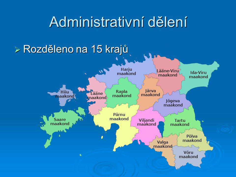 Administrativní dělení  Rozděleno na 15 krajů
