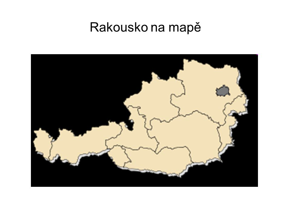Rakousko na mapě