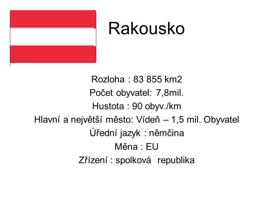 Rozloha : 83 855 km2 Počet obyvatel: 7,8mil.