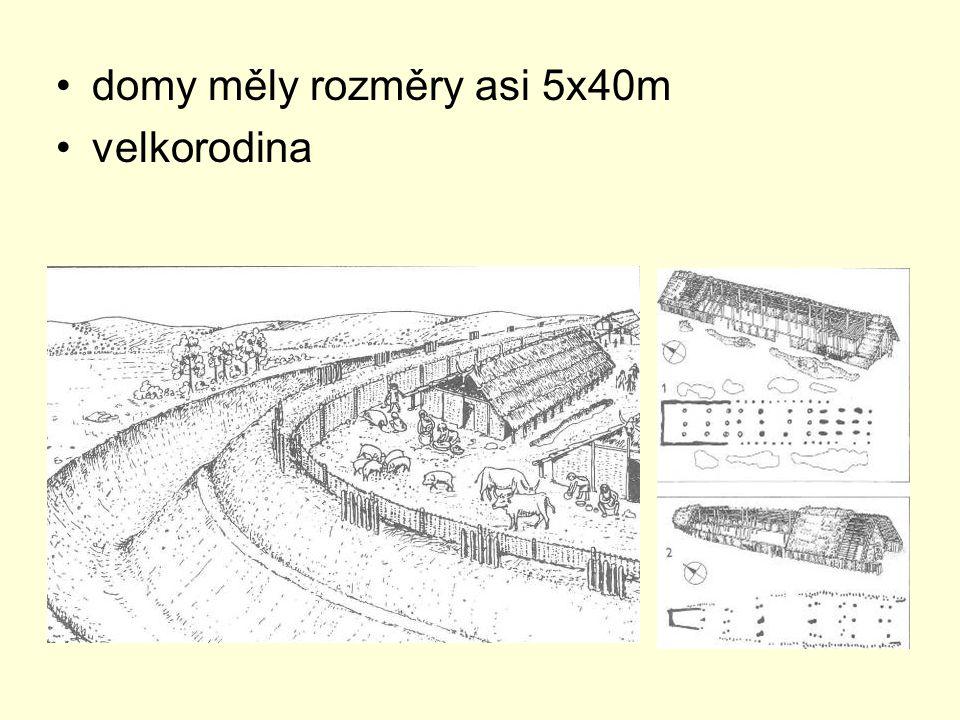 domy měly rozměry asi 5x40m velkorodina