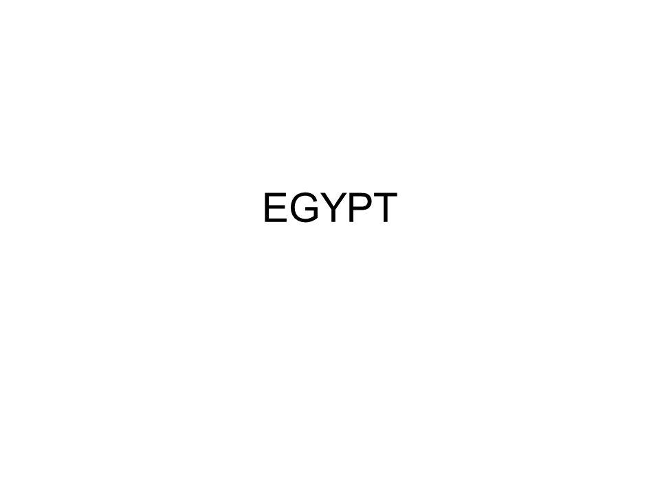 1.Existence Egypta byla a je závislá na řece, která jím protéká.