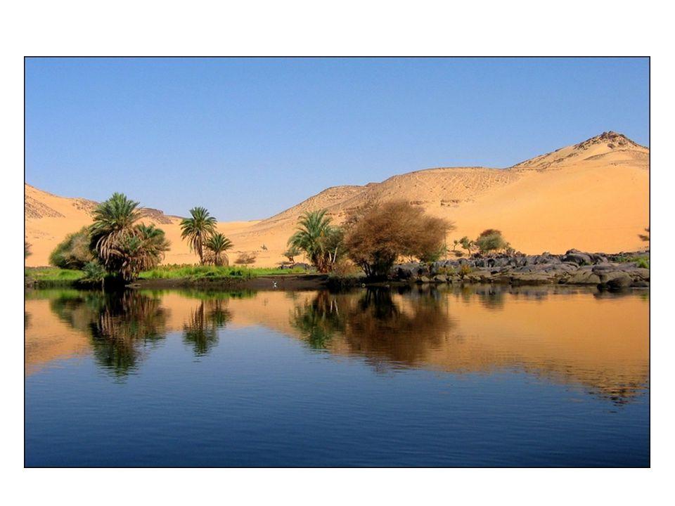 NIL Poté, co se okolní oblasti proměnily v poušť, zůstala podél Nilu oáza dlouhá 1000 km.