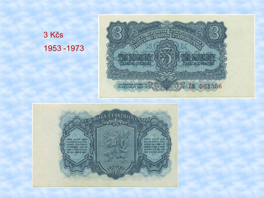 3 Kčs 1953 -1973